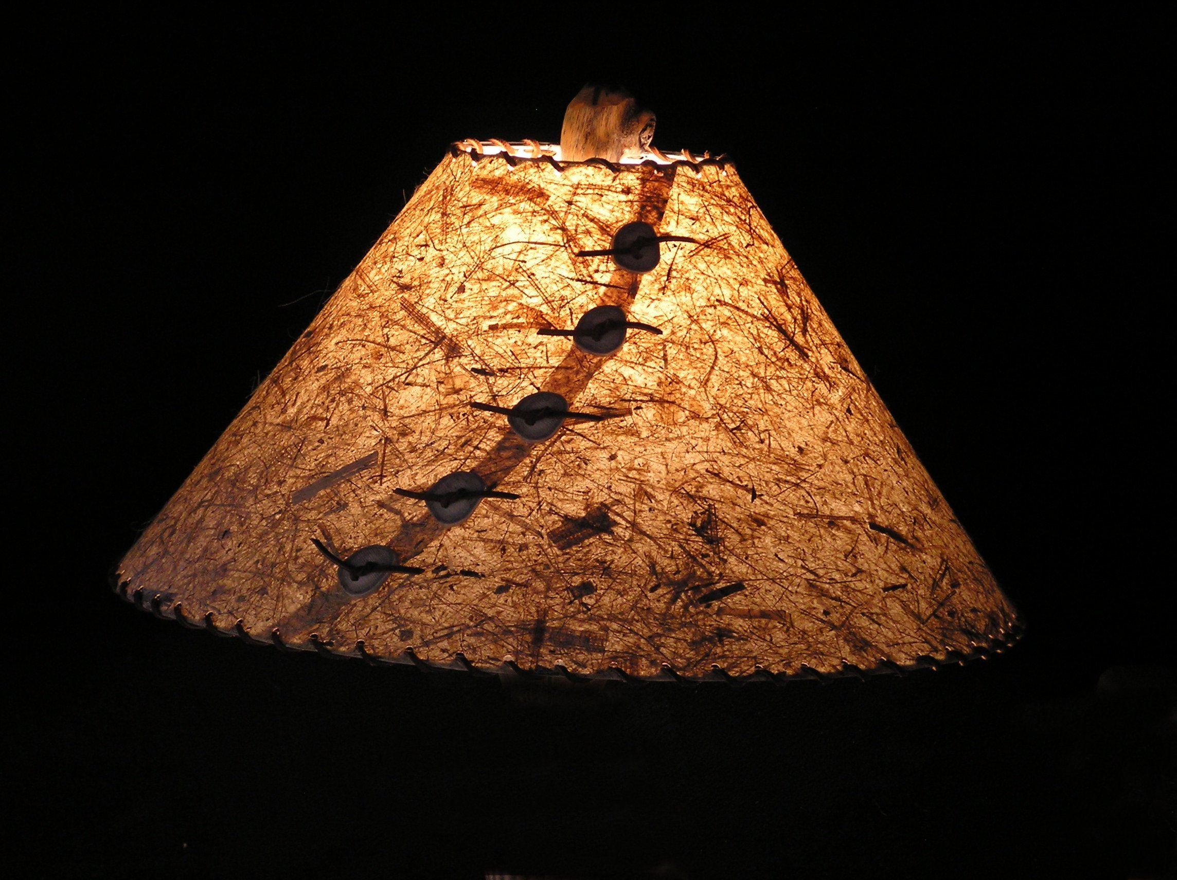 Custom hand made rustic lamp shades rustic wildlife lamp shades textured rust aloadofball Gallery