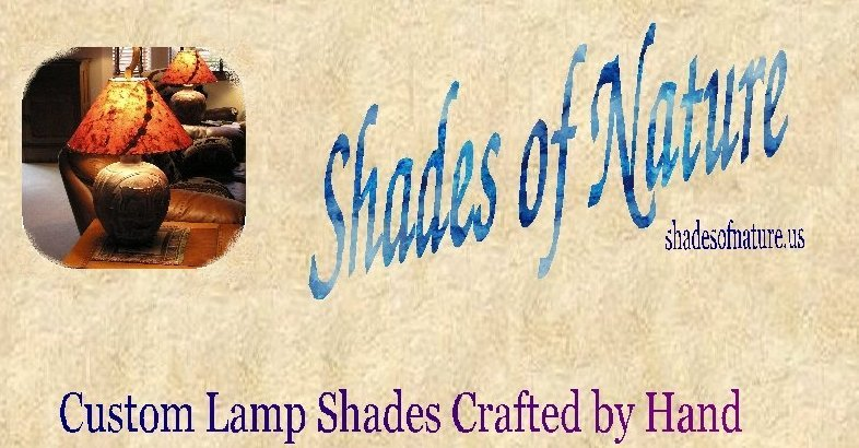 Custom rustic, wildlife & drum lamp shades