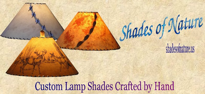 Custom hand made rustic lamp shades rustic wildlife lamp shades custom rustic wildlife and drum lamp shades mozeypictures