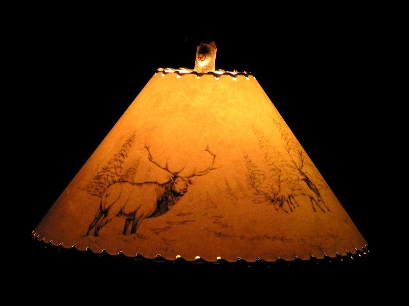 Rustic Wildlife Lamp Shades Bear Moose Elk Whitetail