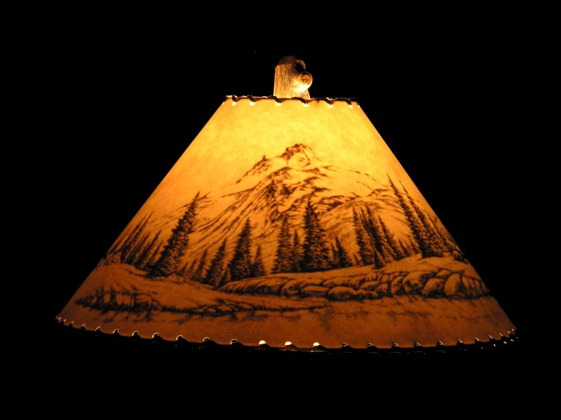 Mountain Scene Lamp Shade, Rustic ...