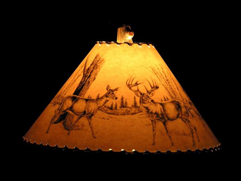 Rustic wildlife lamp shades bear moose elk whitetail deer mule rustic lamp shade wildlife lamp shade rustic lamp shade aloadofball