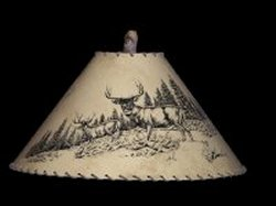 Mule Deer lamp shade