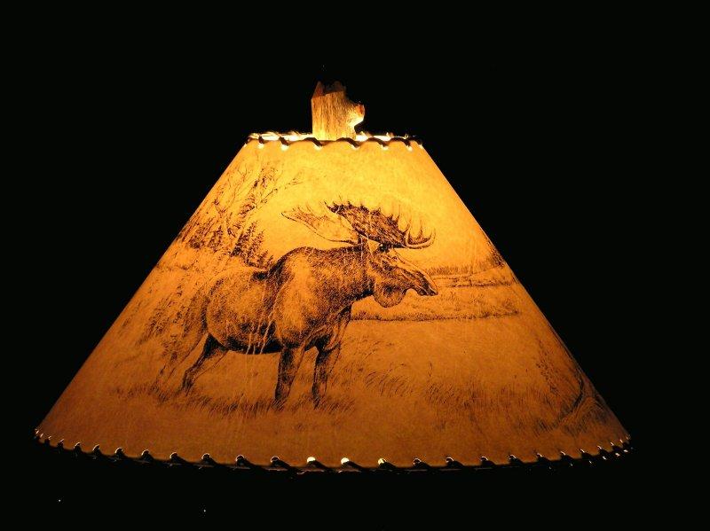 Rustic Moose Lamp Shade